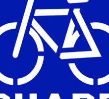 Share the Road Sticker - Blue Version Sticker