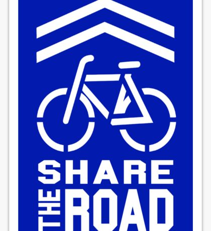 Share the Road Sticker - Blue Version Sticker