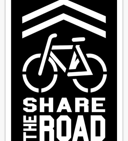 Share the Road Sticker - Black Version Sticker