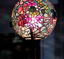 autumn leaf globe lamp {1900-1910} by WonderlandGlass