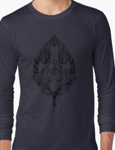Serenity Victoriana - Black Long Sleeve T-Shirt