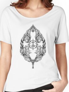 Serenity Victoriana - Black Women's Relaxed Fit T-Shirt
