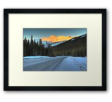 Bright peak Framed Print