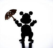 Toy bear silouette by Tomas Raštutis