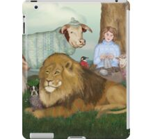 The Hand Knitted Peaceable Kingdom  iPad Case/Skin