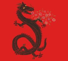 Dragon, Flower Breathing Baby Tee
