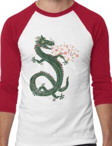 Dragon, Flower Breathing Men's Baseball ¾ T-Shirt