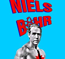 Niels Bohr Superhero by Expalphalog