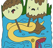 Adventure Time - PB Rock shirt by menteymenta