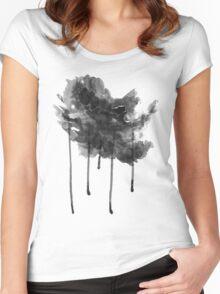 bLACK rAIN T-ShirT Women's Fitted Scoop T-Shirt