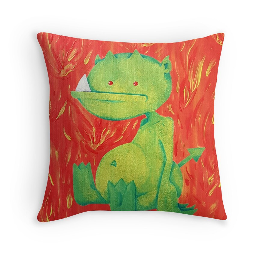 Small Green Decorative Pillow :