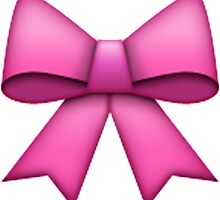 Emoji Pink Bow by emoji-