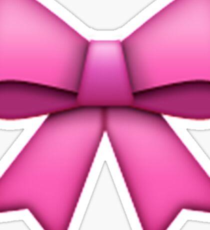 Emoji Pink Bow Sticker