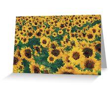 Vintage Sunflower painting art  Greeting Card