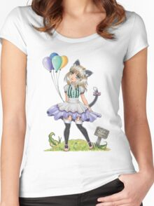 Free Balloons Women's Fitted Scoop T-Shirt