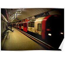 Central Line Train- Liverpool Street Poster