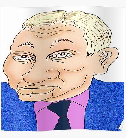 Michael Gove Cartoon Caricature Poster