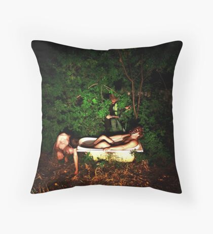 Danger in the Thicket Throw Pillow