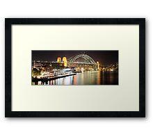 Sydney Harbour Bridge and Passenger Terminal Framed Print