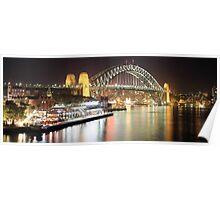 Sydney Harbour Bridge and Passenger Terminal Poster