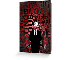 Anonymous revolution without blood ? Greeting Card