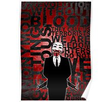 Anonymous revolution without blood ? Poster