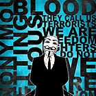 Anonymous revolution without blood ? Cyan by Shobrick