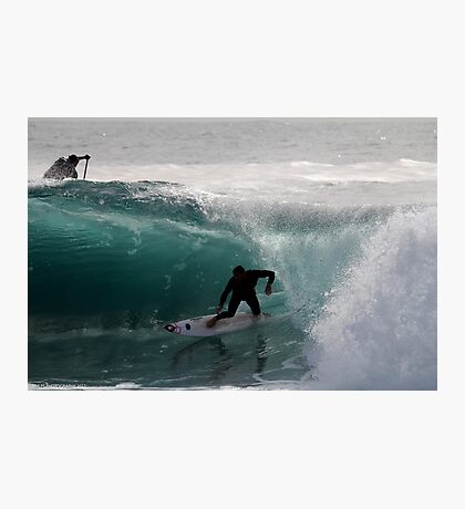 Surfer getting Barrelled at Dee Why Point Photographic Print