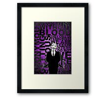 Anonymous revolution without blood ? Purple Framed Print