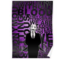 Anonymous revolution without blood ? Purple Poster