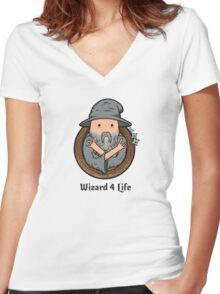 Wizards Represent! Women's Fitted V-Neck T-Shirt