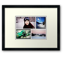 A fine day for skiing... Framed Print