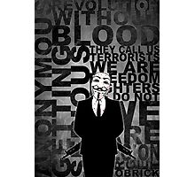 Anonymous revolution without blood ? W&B Photographic Print