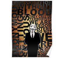 Anonymous revolution without blood ? Gold Poster