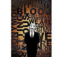Anonymous revolution without blood ? Gold Photographic Print