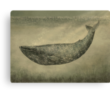 Damask Whale  Canvas Print