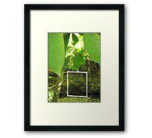 Protruding natures lines #7 Framed Print
