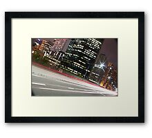 Street Lights of Sydney Framed Print