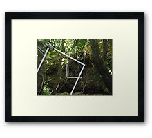 Protruding natures lines #15 Framed Print