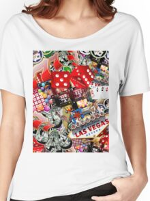 Gamblers Delight - Las Vegas Icons Background Women's Relaxed Fit T-Shirt