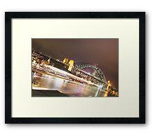Sydney Harbour Lights Framed Print
