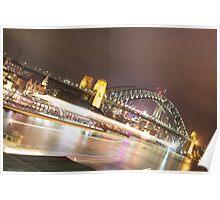 Sydney Harbour Lights Poster