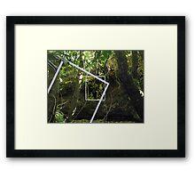 Protruding natures lines edit #4 Framed Print