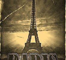 Vintage Eiffel Tower Paris #2 by Nhan Ngo