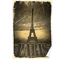 Vintage Eiffel Tower Paris #2 Poster