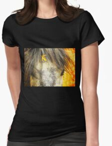 California Wild Horse No. 1 in Series ~ Foliage Fabulous Womens Fitted T-Shirt