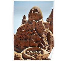 Humpty Dumpty sand sculpture Poster