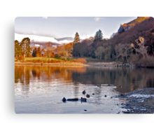 By The Lakeside - Derwentwater Canvas Print