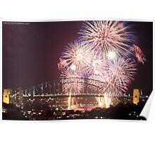 Sydney Harbour Bridge Fireworks, 2011/12 NYE Poster