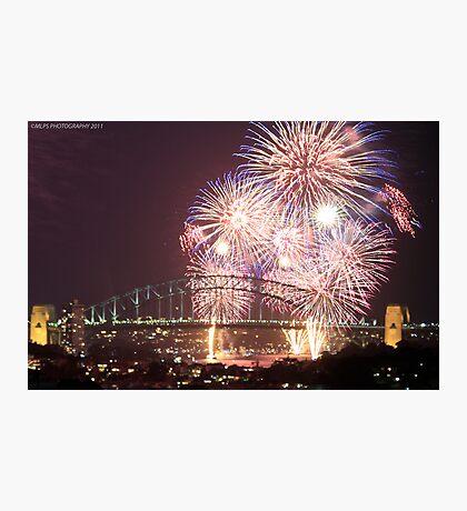 Sydney Harbour Bridge Fireworks, 2011/12 NYE Photographic Print